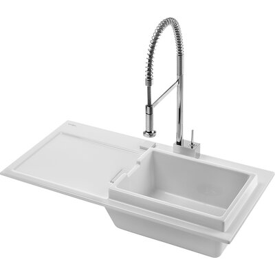 "Duravit Starck K 41"" x 21.5"" Kitchen Sink with Right Bowl"