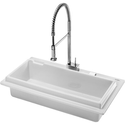 "Duravit Starck K 41"" x 22"" Flush Mount Kitchen Sink"