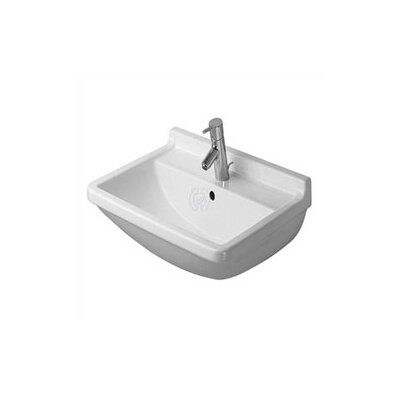 Duravit Starck 3 Top Platform Pedestal Bathroom Sink Set with Overflow