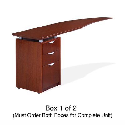 "Rudnick 20"" H x 72"" W Left Curved Desk Return"