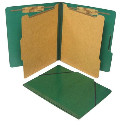 Selco Industries, Inc. Classification Folio,Letter,2 Partitions,10 per Box, Red/Green/Blue