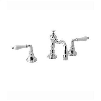 Victorian Widespread Bathroom Faucet with Double Porcelain Lever Handles - 853/268