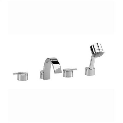 Jado Glance Double Handle Volume Control Roman Tub Faucet with Hand Shower