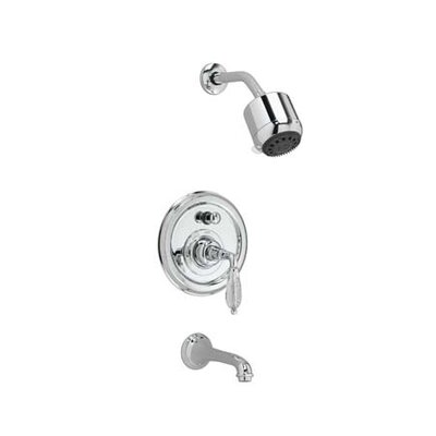 Jado Classic Pressure Balance Diverter Tub and Shower Faucet with Crystal Lever Handle