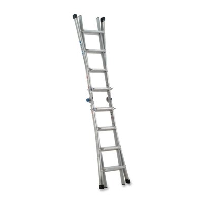 "Werner Company Telescoping Ladder,w/ J Lock,17',8-1/2""x24-5/8""x204"",AM"
