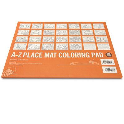 Bob's Your Uncle A-Z Coloring Pad Placemat