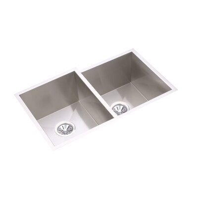 "Elkay Avado 31.25"" x 20.5"" Double Bowl Multi-Size Kitchen Sink"