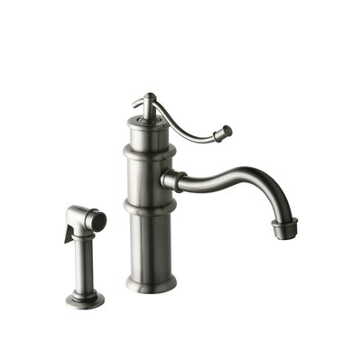 Oldare Single Handle Single Hole ADA Compliant Kitchen Faucet with Optional Side Spray