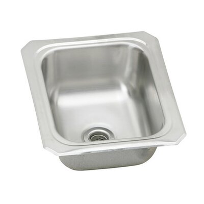 "Elkay 13"" x 15"" Single Bowl Stainless Steel Bar Sink"