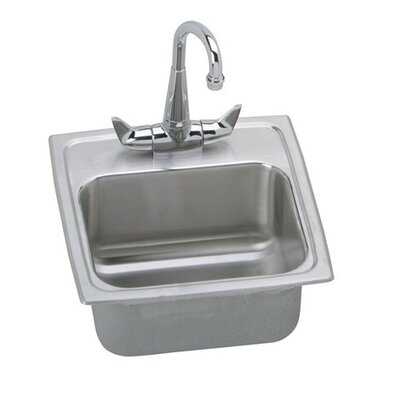"Elkay Gourmet 15"" x 15"" Top Mount Kitchen Sink"