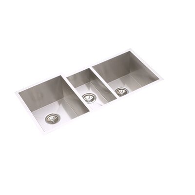 "Elkay Avado 40"" x 20.5"" Undermount Three Bowls Package Kitchen Sink"