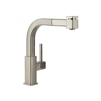 Single Handle Deck Mount Kitchen Faucet with Pullout Spray