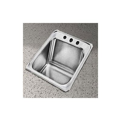 "Elkay Celebrity 17"" x 21.25"" Self-Rimming Stainless Steel Sink Set"