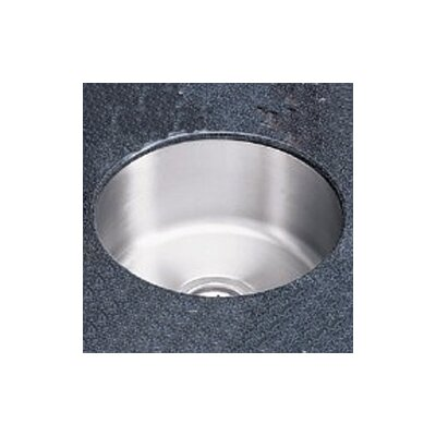 "Elkay Lustertone 14.38"" x 14.38"" Undermount Single Bowl Kitchen Sink"