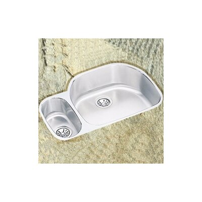 "Elkay 31.5"" x 21.13"" x 10"" Double Bowl Undermount Kitchen Sink with Reveal Rim"