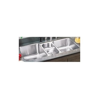 "Elkay 40"" x 20.5"" Undermount Triple Bowl Kitchen Sink"