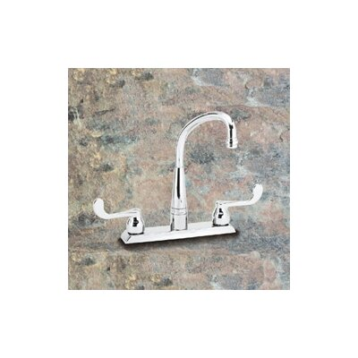 Elkay Traditional Swing Spout Double Handle Centerset Kitchen Faucet