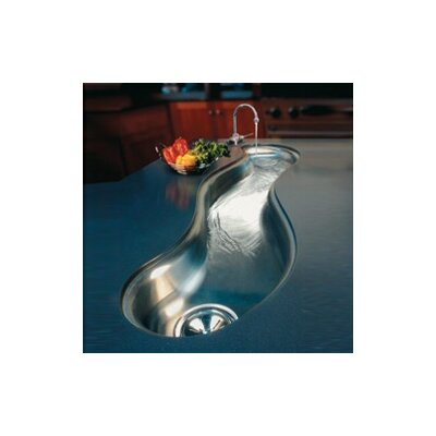 "Elkay Mystic 51"" x 13.94"" Undermount Single Bowl Kitchen Sink"