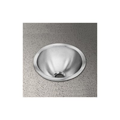 Round Bowl Stainless Steel Bathroom Sink with No Faucet Edge - RLR12
