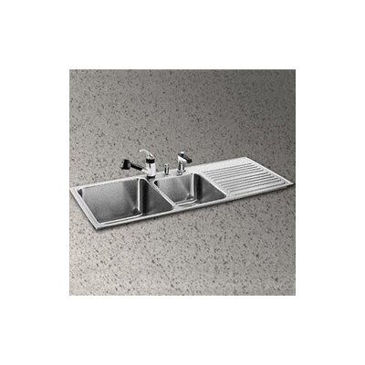 "Elkay Gourmet 48"" x 22"" x 10"" 3-Hole Self Rimming Double Bowl Kitchen Sink with Left Handed"