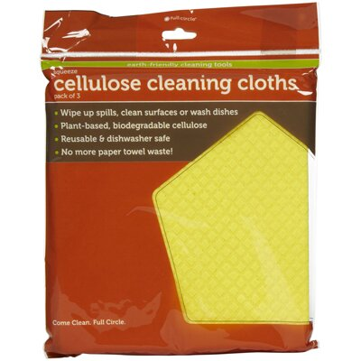 Full Circle Squeeze Cellulose Cleaning Cloth (Set of 3)