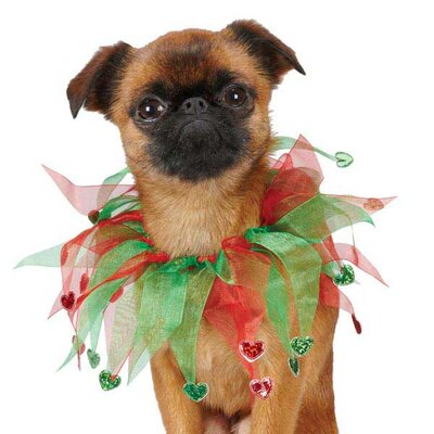 Aria Holiday Heart Scrunchy Dog Neckware