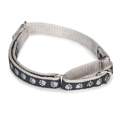 Pawprint Martingale Dog Collar
