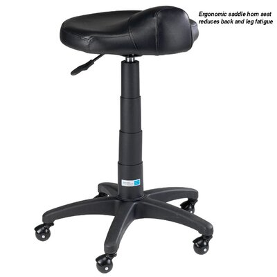Master Equipment Ergonomic Grooming Stool in Black