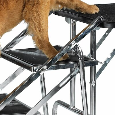 Master Equipment Non-Skid 4 Step Pet Stair for Grooming Table and SUV's
