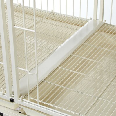 Pet Studio Modular Pet Cage Tray Connector in Ivory