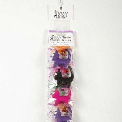 Savvy Tabby Tickle Kitties Clip Strip Cat Toy (12 Pieces)
