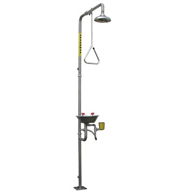 Speakman Safe-T-Zone Floor Mount Traditional Combination Shower with Eye / Face Wash