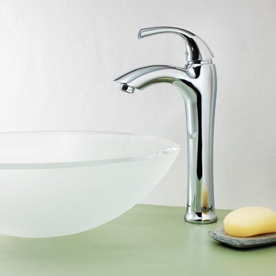 Keila Single Lever Deck Mount Vessel Faucet with Pop-Up Drain - SI-F002