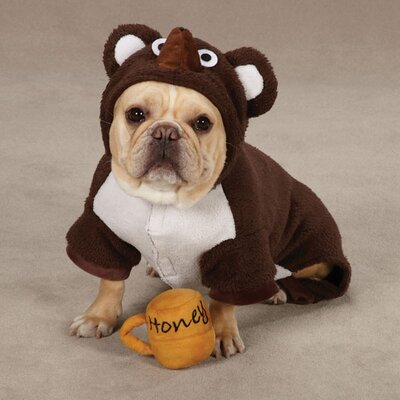 Zack and Zoey Lil' Honey Bear Dog Costume in Brown