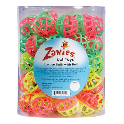 Zanies Lattice Balls Cat Toy Canister (50 Pieces)