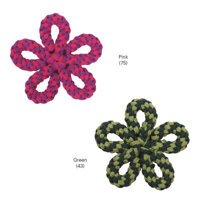 Zanies Carolina Rope Flower Dog Toy