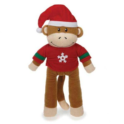 Zanies Holiday Monkey Business Friend Dog Toy