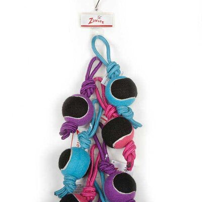 Zanies Tennis Tug Clip Strip Dog Toy (12 Pieces)