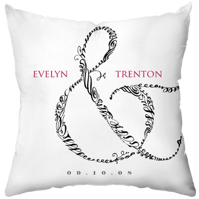 Checkerboard Personalized Entwined Poly Cotton Throw Pillow