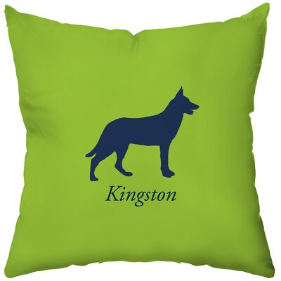 Checkerboard Personalized German Shepherd Poly Cotton Throw Pillow