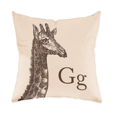 Checkerboard Giraffe Poly Cotton Throw Pillow