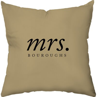 Checkerboard Personalized Hers Poly Cotton Throw Pillow