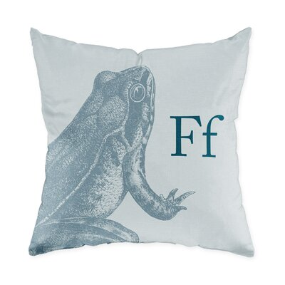 Checkerboard Frog Poly Cotton Throw Pillow
