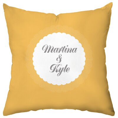Checkerboard Personalized Burst Poly Cotton Throw Pillow