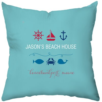 Checkerboard Personalized Beachy Baby Polyester Throw Pillow
