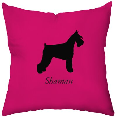 Checkerboard Personalized Schnauzer Poly Cotton Throw Pillow