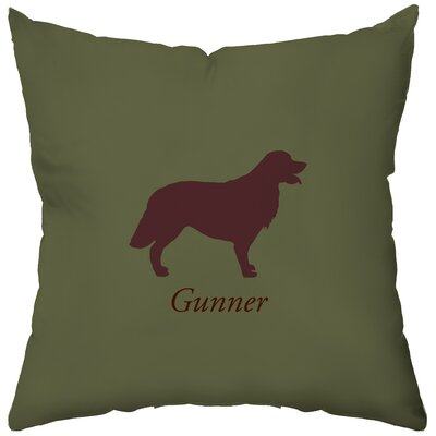 Checkerboard Personalized Golden Retriever Polyester Throw Pillow