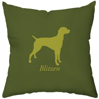 Checkerboard Personalized German Pointer Poly Cotton Throw Pillow
