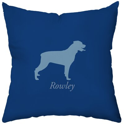 Checkerboard, Ltd Personalized Rottweiler Poly Cotton Throw Pillow