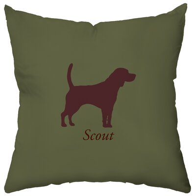 Checkerboard, Ltd Personalized Beagle Polyester Throw Pillow